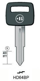 プラスチックヘッドキー HD64BP